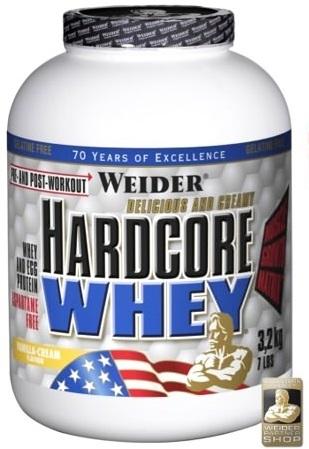 Weider, Hardcore Whey, Gainer, 3178 g, Jahoda