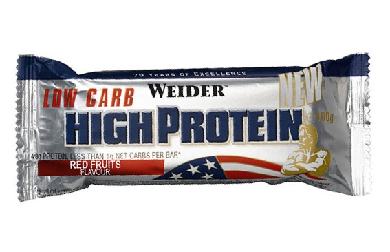 Weider , Low Carb High Protein, 100 g, Jahoda