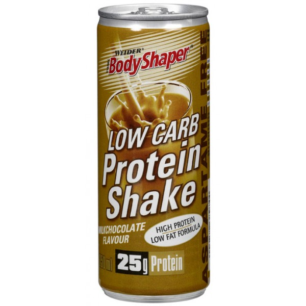 Weider, Low Carb Protein Shake, 250 ml,, Jahoda