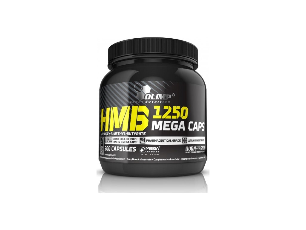 HMB Mega Caps 1250, 300 kapslí, Olimp
