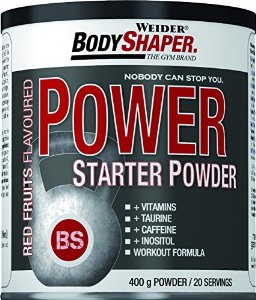 Power Starter Powder, energetický nápoj, 400 g, Weider, Red Fruits