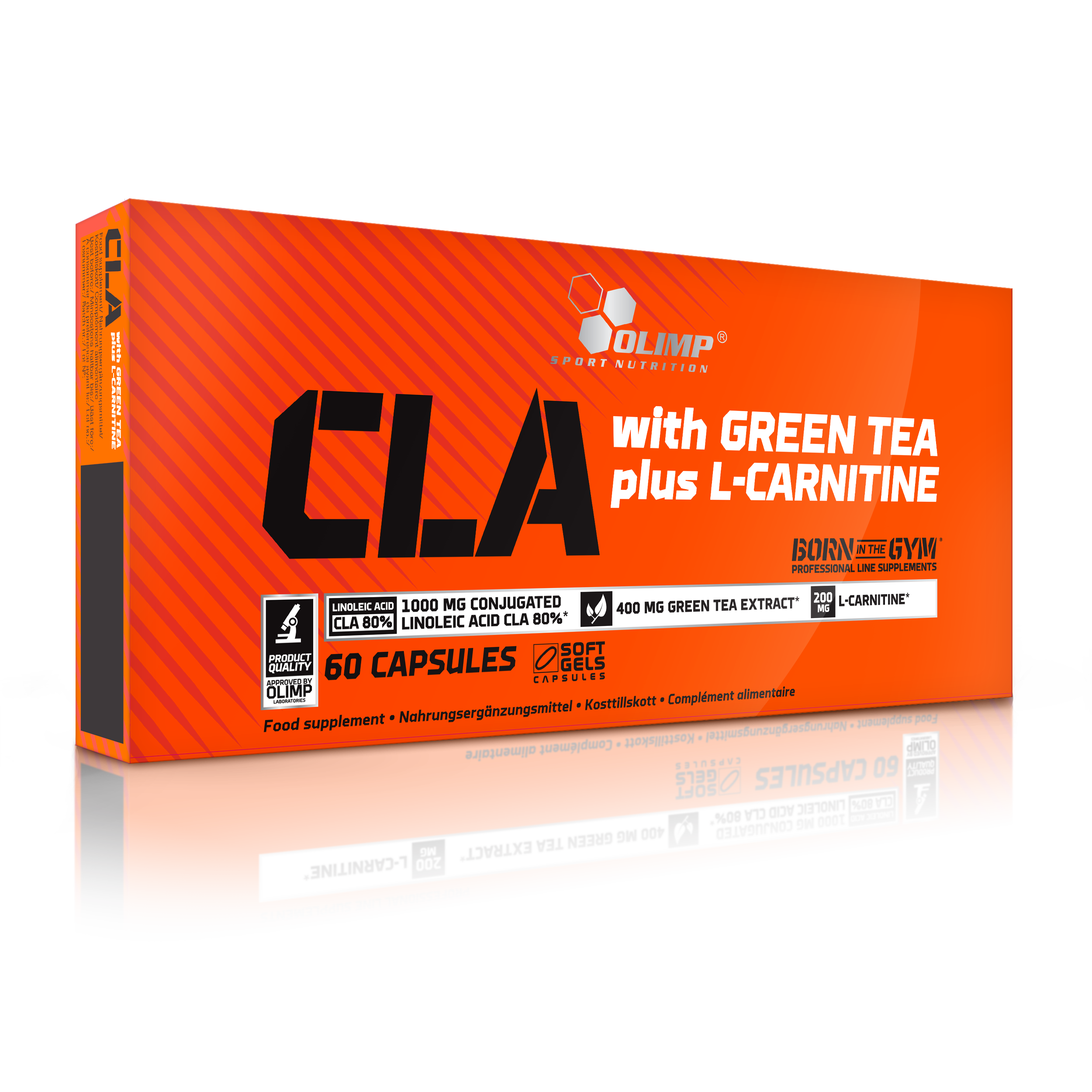 CLA+Green Tea+L-Carnitine, 60 kapslí, Olimp