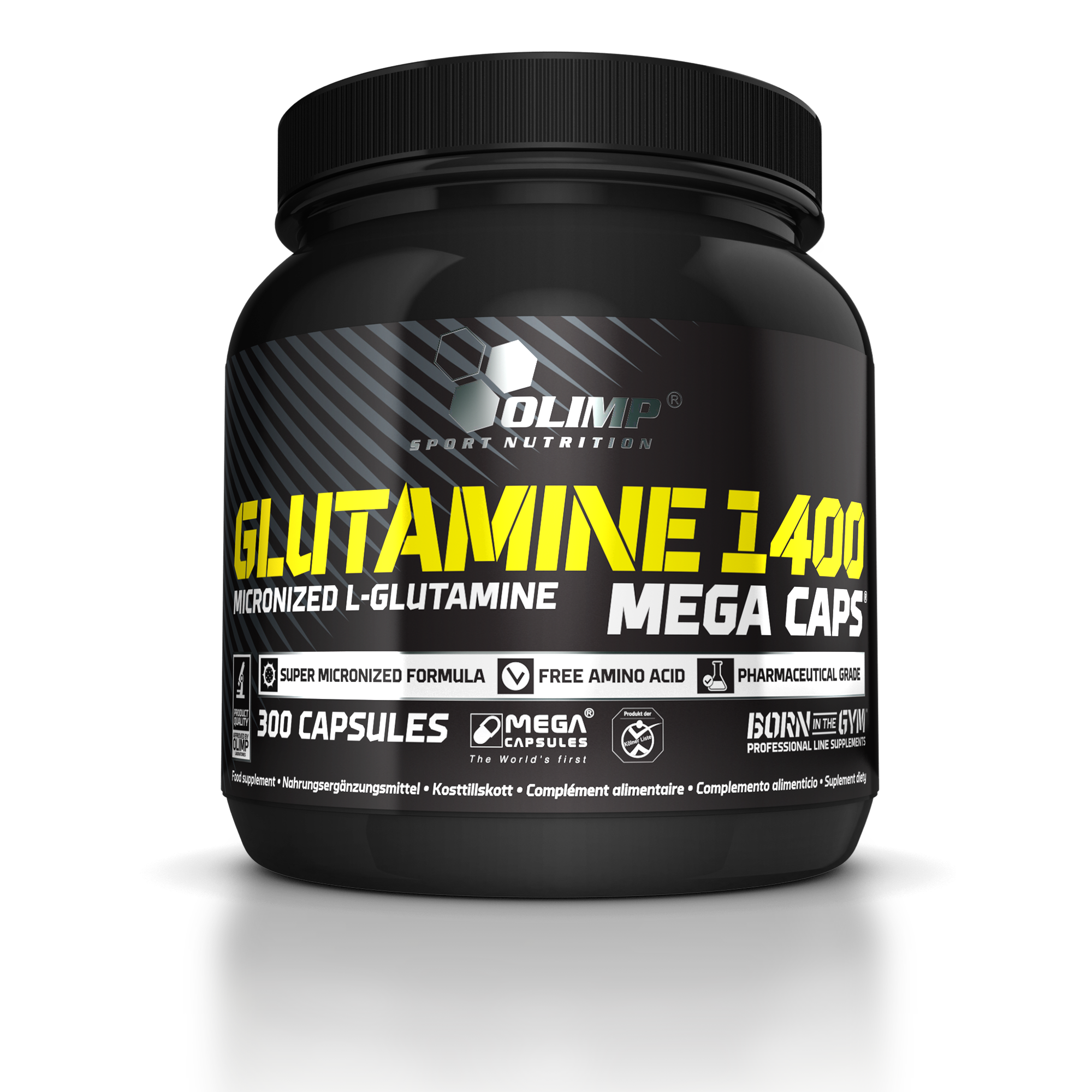 Glutamine Mega Caps 1400, 300 kapslí, Olimp