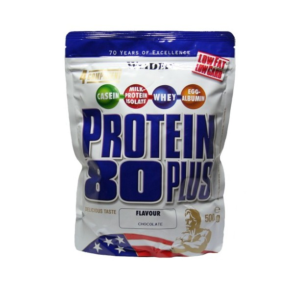 Weider, Protein 80 Plus, 500 g, Brownie Double chocolate