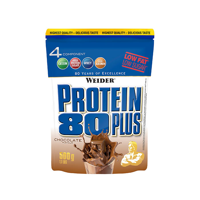 Weider, Protein 80 Plus, 500 g, Raspberry-Cream