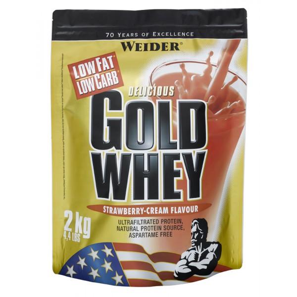 Weider, Gold Whey, 2000 g, Malina-Jogurt
