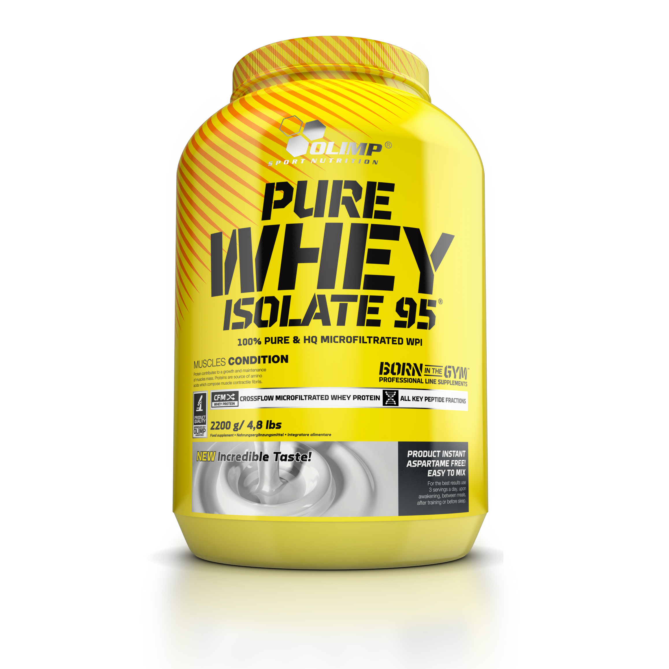 Pure Whey Isolate 95, 2200 g, Olimp, Vanilka