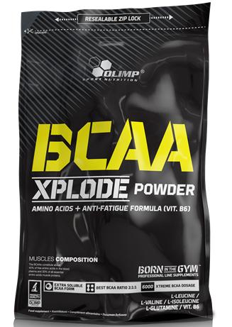 BCAA Xplode, Olimp, 1000 g, Sypká forma BCAA, Fruit Punch