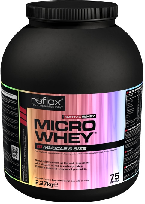 Micro Whey NATIVE, 2,27 kg, Reflex Nutrition, Jahoda