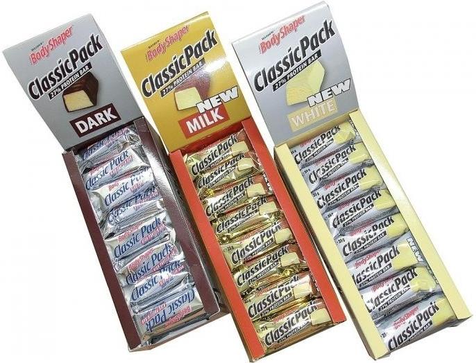 Weider, Classic Pack, 27% Protein Bar, 35 g, Bílá čokoláda