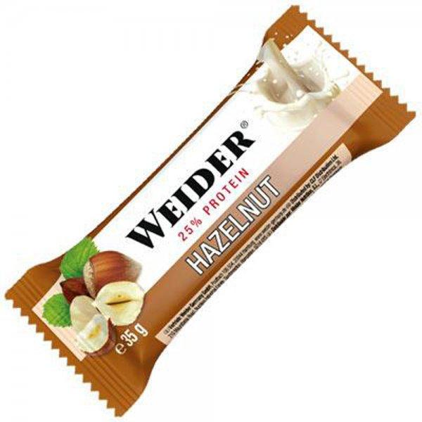Weider, Plus Protein bar, 35 g, Lískový oříšek