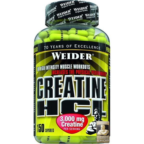 Weider, Creatine HCL, 150 kapslí