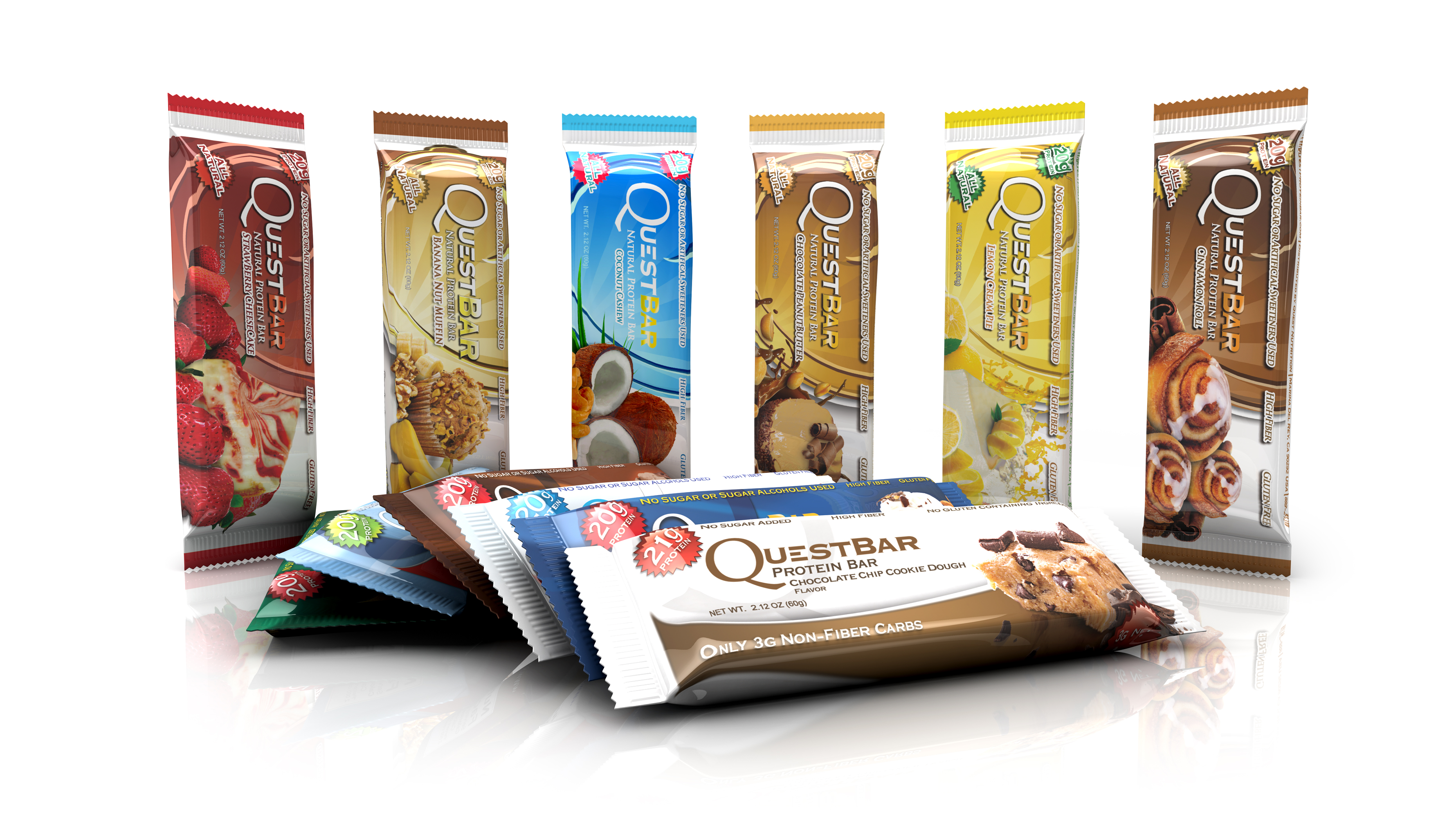 Quest Nutrition, Quest Bar, 60 g, Vanilla Almond Crunch