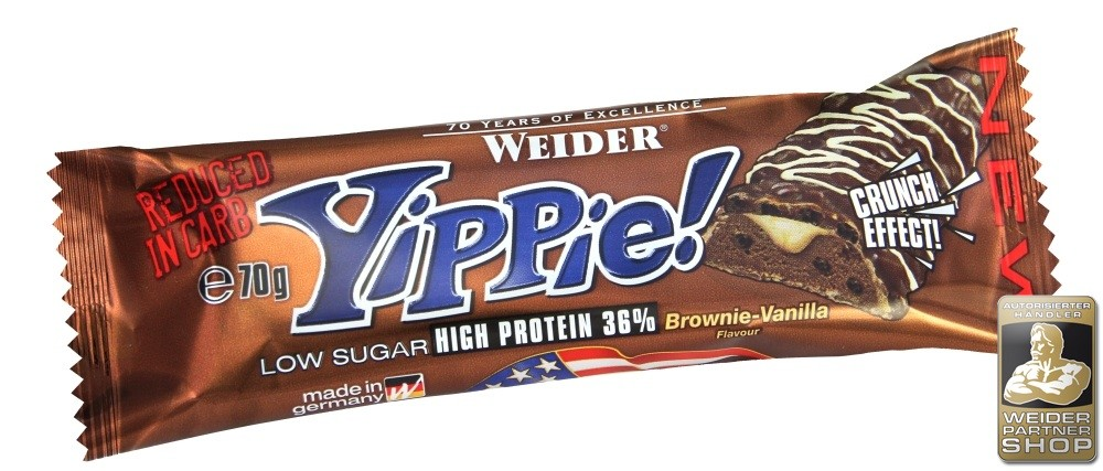 Weider, Yippie! Low Sugar High Protein 36%, 45 g, Triple chocolate