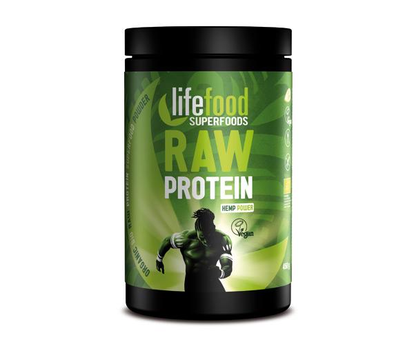 LifeFood, Konopný proteinový prášek, 450g