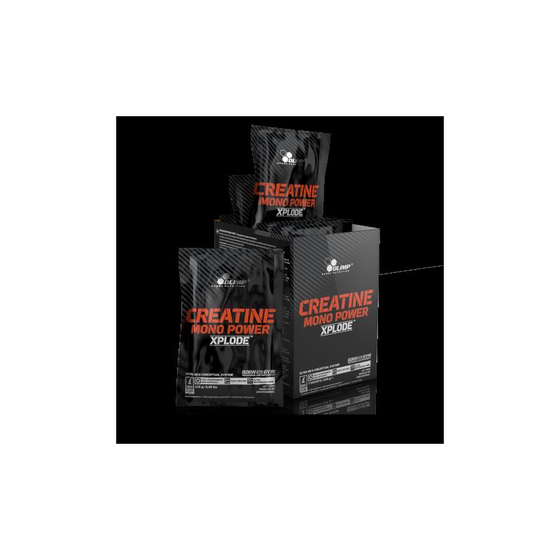 Olimp Creatine Mono Power Xplode, kreatin monohydrát, 220g, Pomeranč