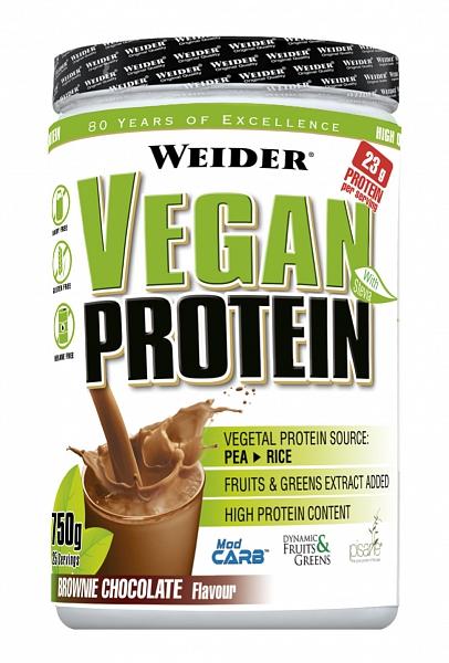 Weider, Vegan Protein, 540g, Čokoláda
