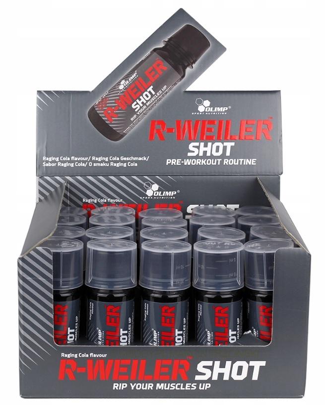 Olimp, R-Weiler SHOT, 60ml, předtréninková směs v ampuli, Cola