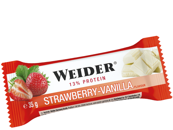 Weider, 13% Protein bar, 35g, Strawberry Vanilla