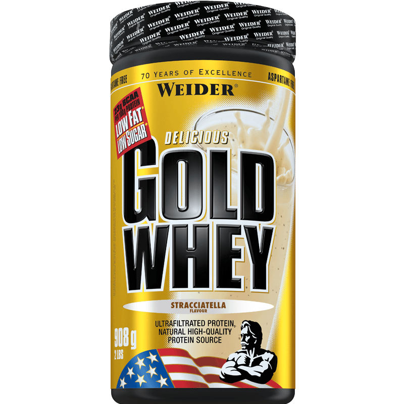 Weider, Gold Whey, 908g, Strawberry Cream