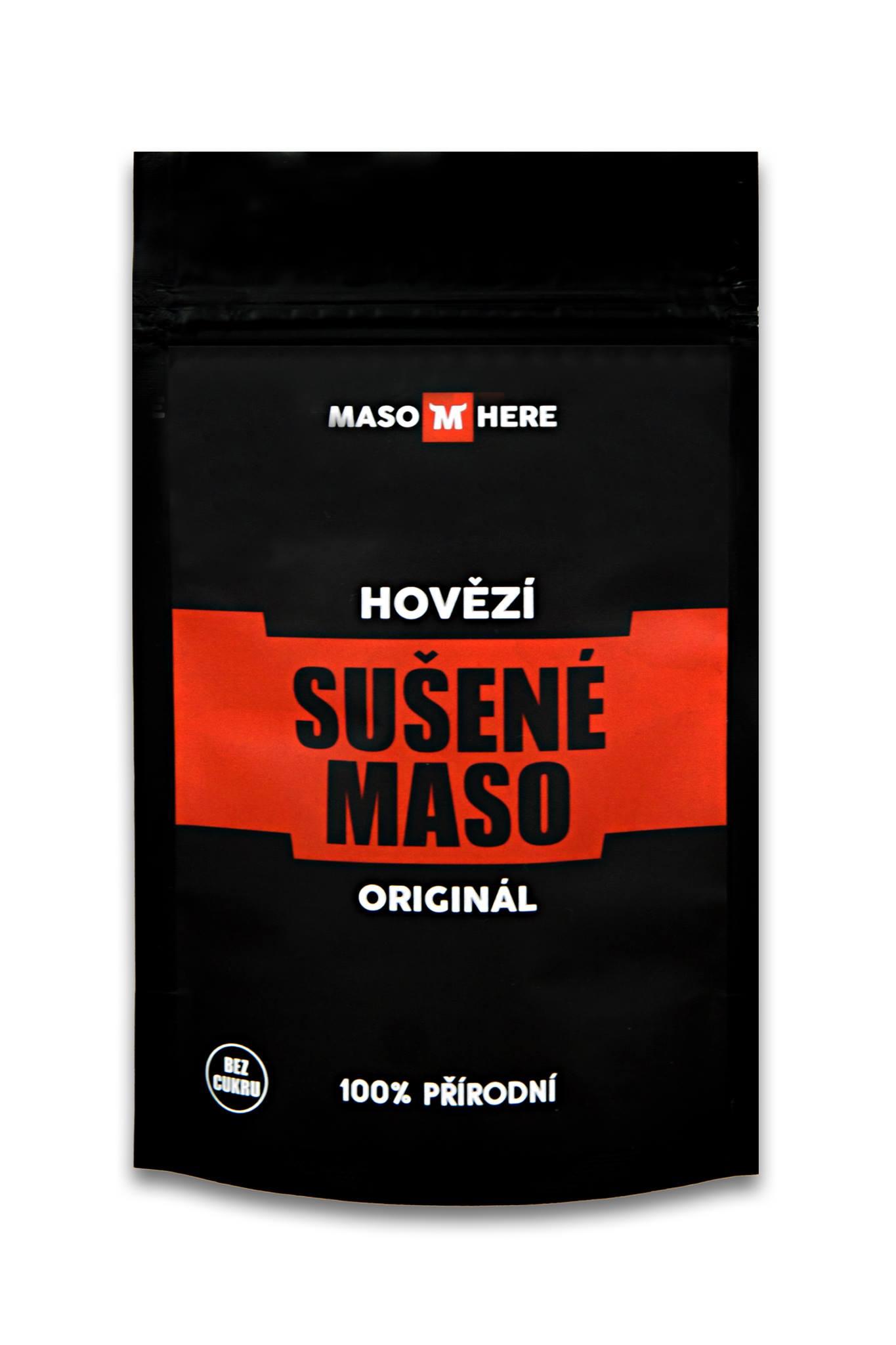 Sušené hovězí maso, MASO HERE, 25g, Originál