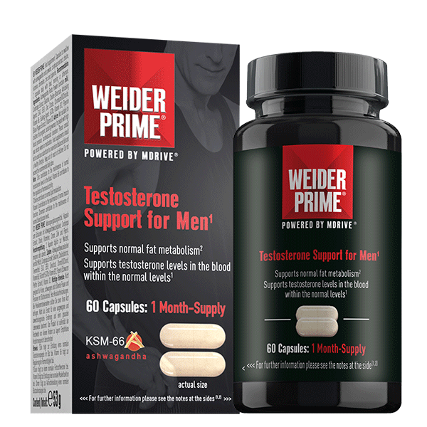 Weider PRIME TESTOSTERONE SUPPORT FOR MEN, 60 CAPS