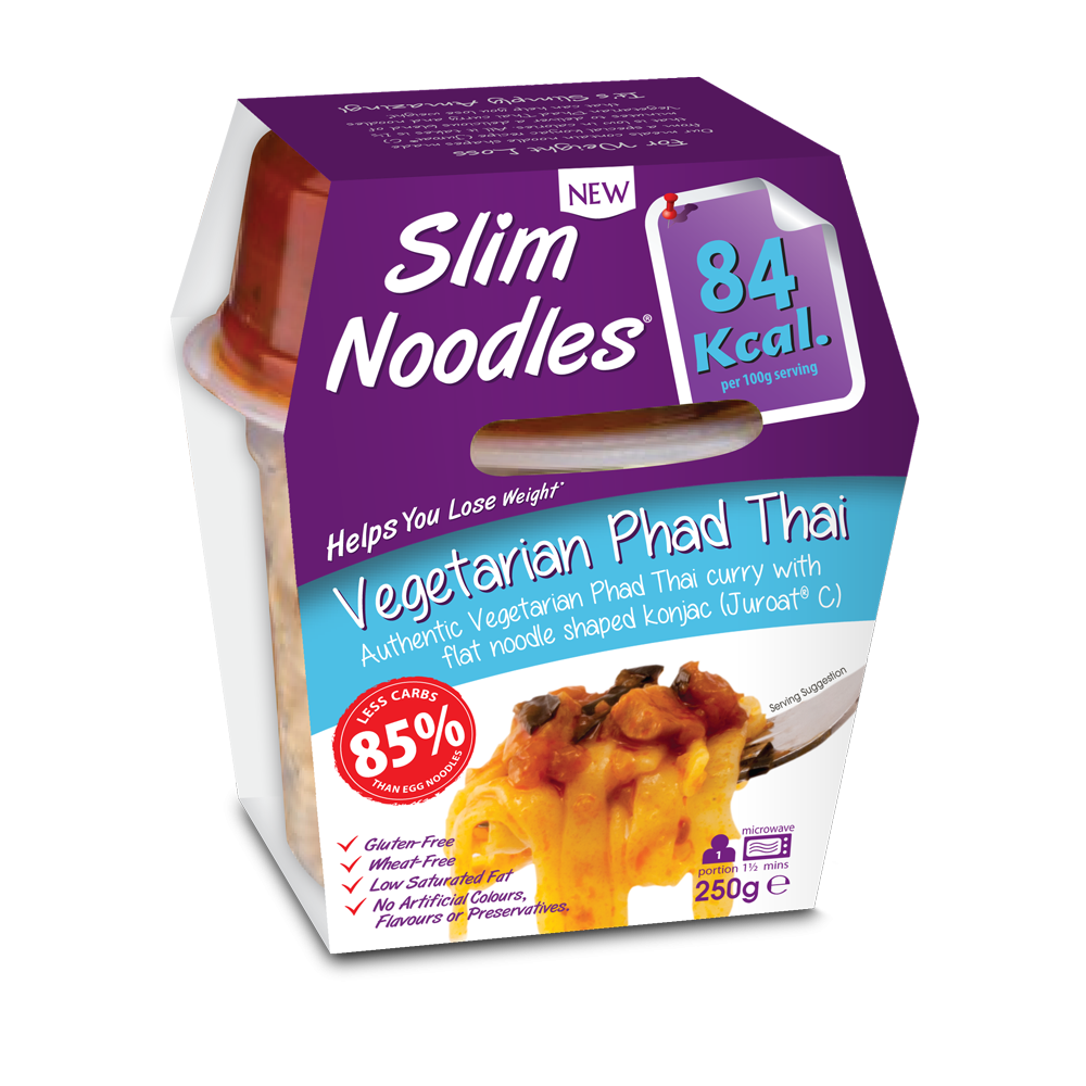SLIM LUNCHBOX - VEGETARIANSKÉ PAD THAI NOODLES, 250 g