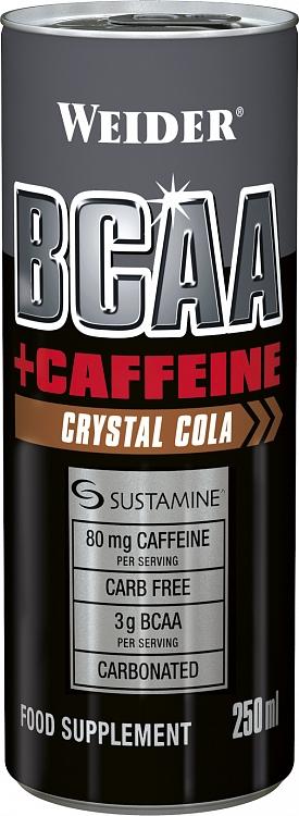 Weider BCAA + Caffeine drink, 250 ml, Pomeranč-mango