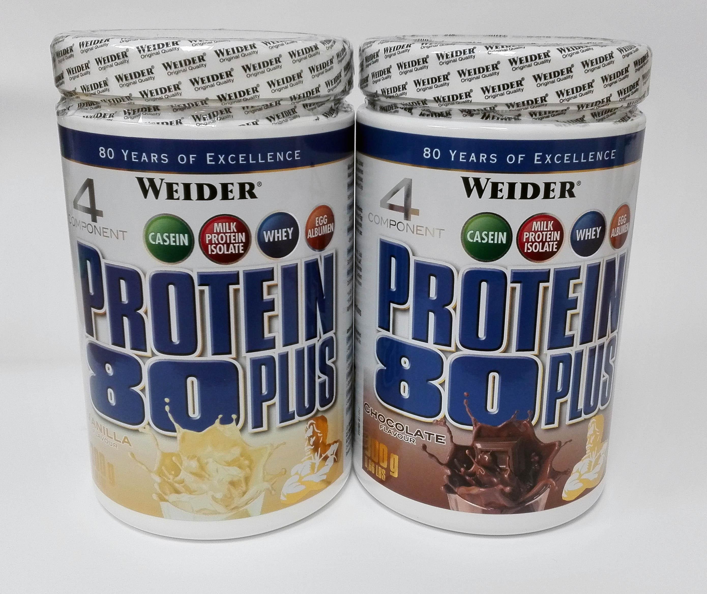 Weider, Protein 80 Plus 4 Component, 300 g, Čokoláda
