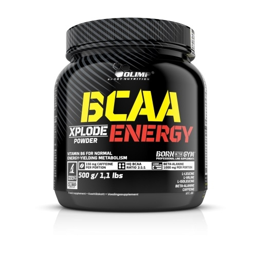 Olimp BCAA Xplode ENERGY, 500 g, Sypké BCAA + Kofein + Beta-alanin, Fruit Punch