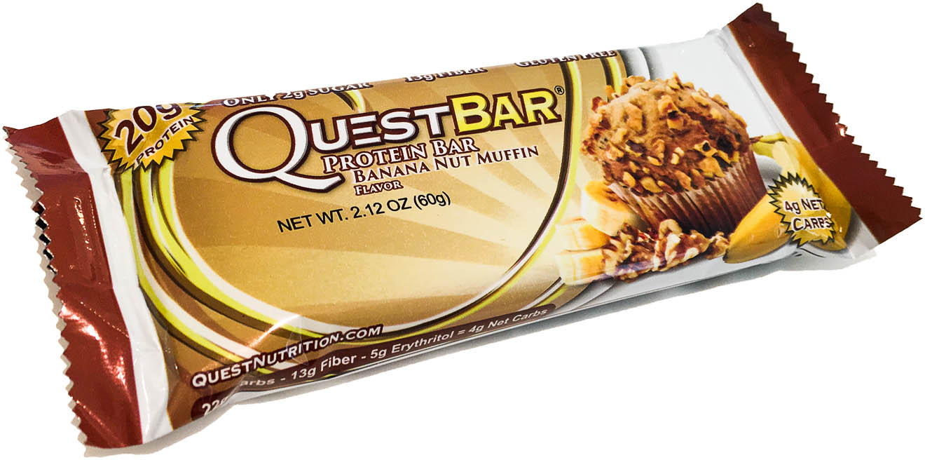 Quest Nutrition, Quest Bar, 60 g, Banana Nut - Muffin - expirace 20.2. 2018