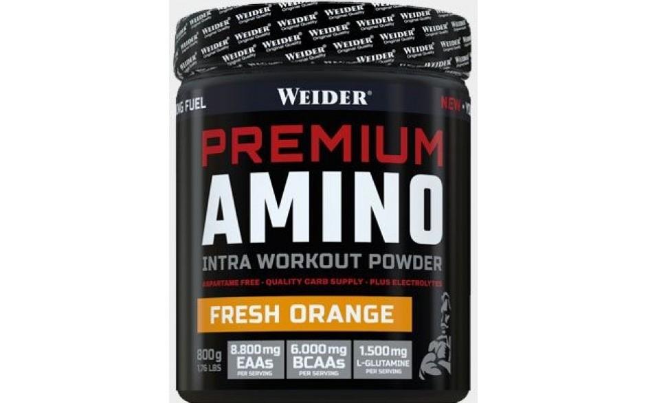 Weider Premium Amino - nestimulační předtréninková směs,  800g, Tropical Punch
