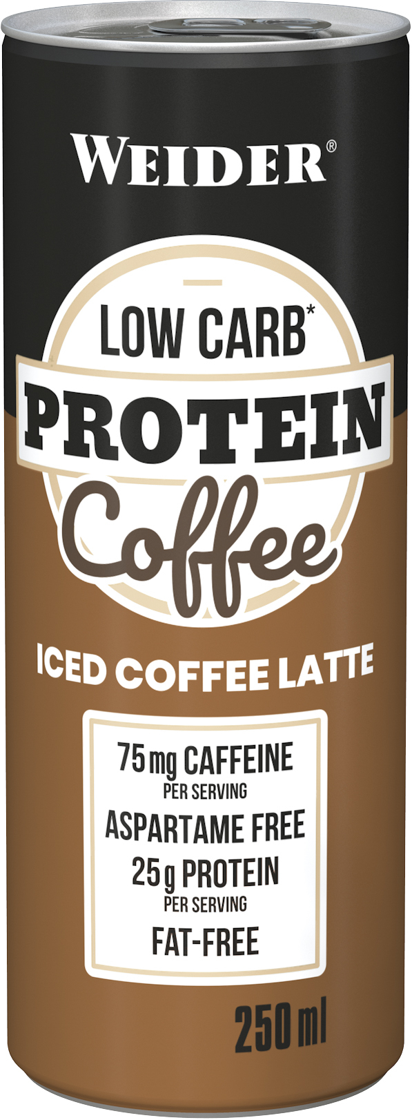 WEIDER LOW CARB Protein Coffee Latte, 250ml