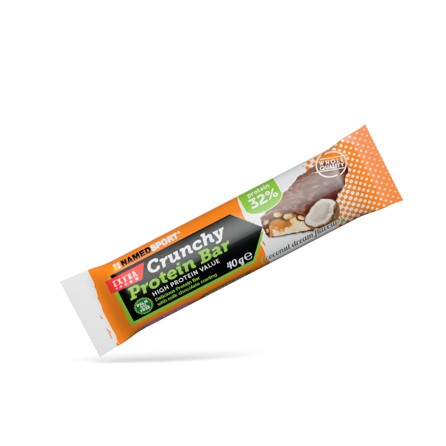 NAMEDSPORT Crunchy Protein Bar 32%, proteinová tyčinka, 40g, Coconut Dream