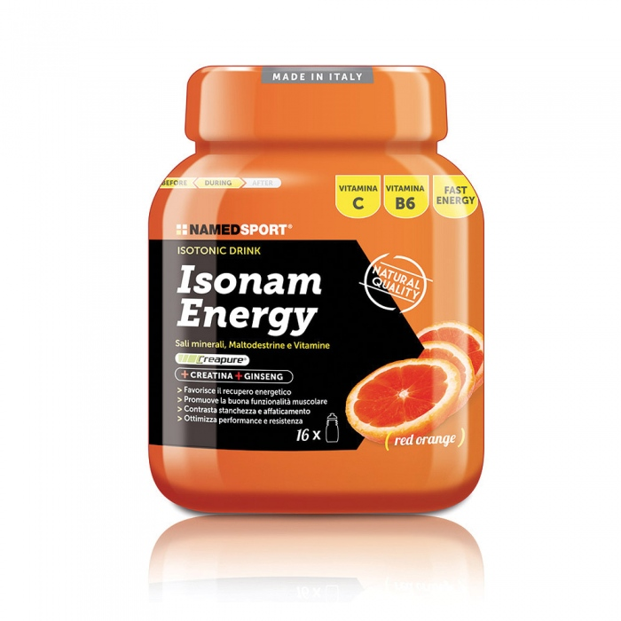 NAMEDSPORT Isonam Energy, 480 g, Pomeranč