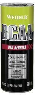 Weider BCAA  drink, Red Berries, 250 ml  - EXPIRACE 22.12. 2018