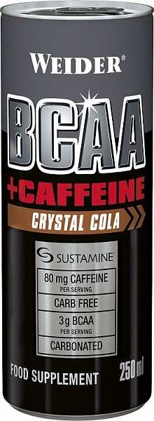 Weider BCAA + Caffeine drink, 250 ml  -  EXPIRACE 22.12. 2018