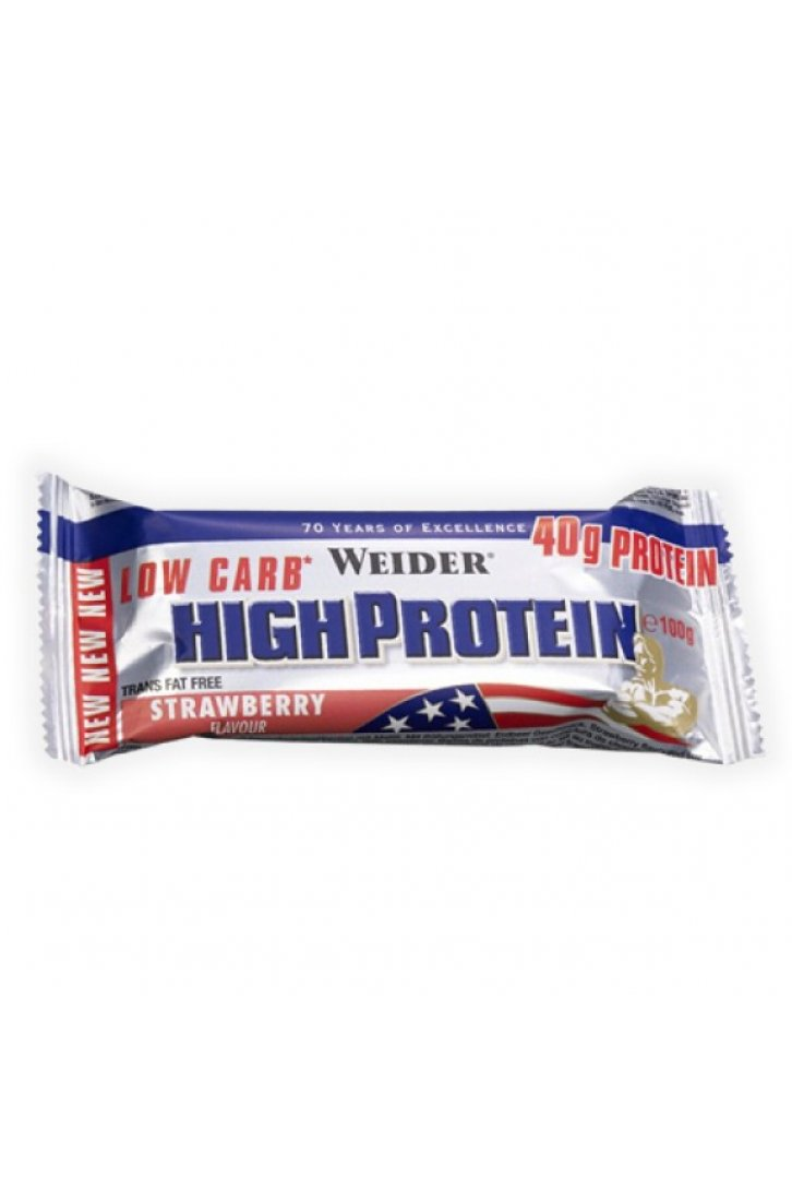 Weider , Low Carb High Protein, 100 g  -  expirace 12/2018, Jahoda