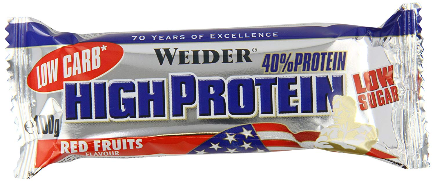 Weider , Low Carb High Protein, 100 g, Red Fruit - EXPIRACE  -  06/2019