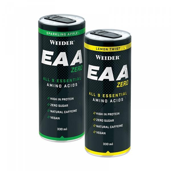 Weider EAA Zero Amino Acids, Esenciální Aminokyseliny, 330 ml, perlivé jablko