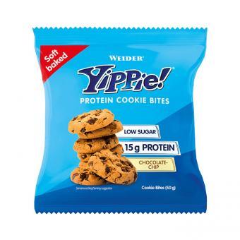 Weider, Yippie! Protein Cookie Bites, Malé Proteinové koláčky Yippie, 50 g, čokoláda-vanilka