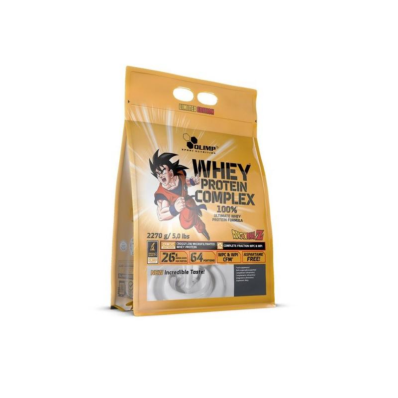 Olimp Whey Protein Complex 100%, 2270g - Limitovaná Edice Dragon Ball Z, Bílá čokoláda - malina