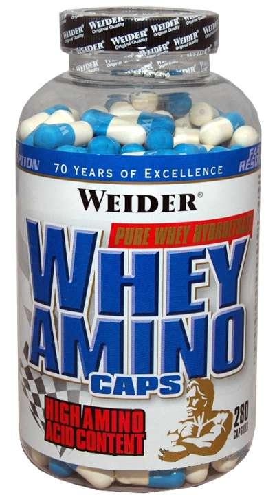 Výsledek obrázku pro Whey Amino Caps 280 kapslí - Weider