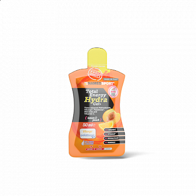 NAMEDSPORT, TOTAL ENERGY HYDRA GEL, Lemon-Peach, 50ml
