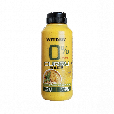WEIDER 0% Fat Curry omáčka, 265 ml